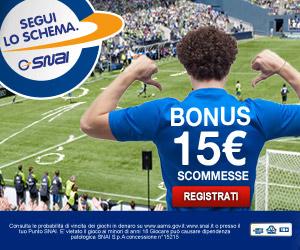 Snai ti offre bonus 15 euro