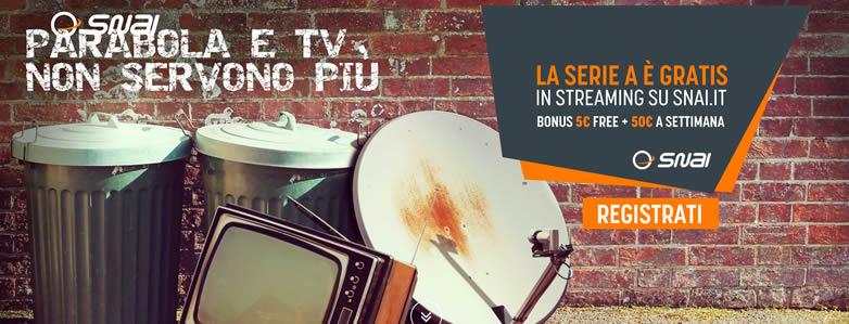Serie A diretta streaming gratis